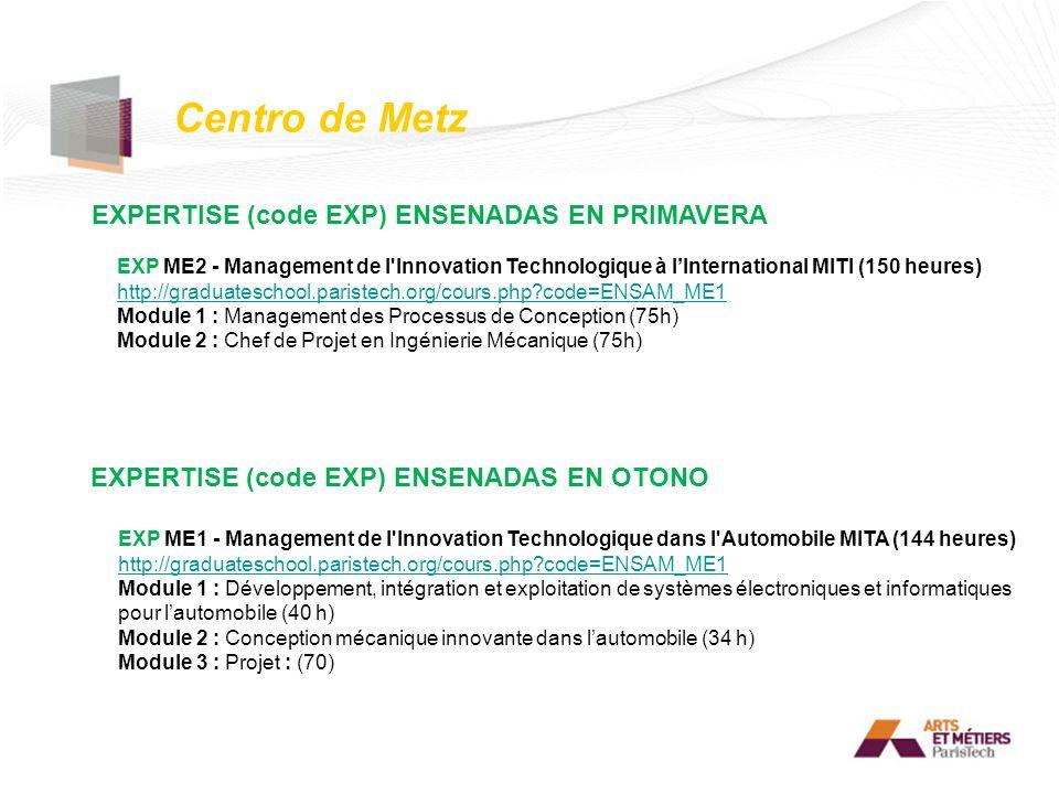 Centro de Metz EXPERTISE (code EXP) ENSENADAS EN PRIMAVERA
