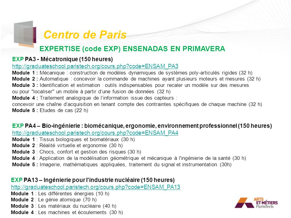 EXPERTISE (code EXP) ENSENADAS EN PRIMAVERA