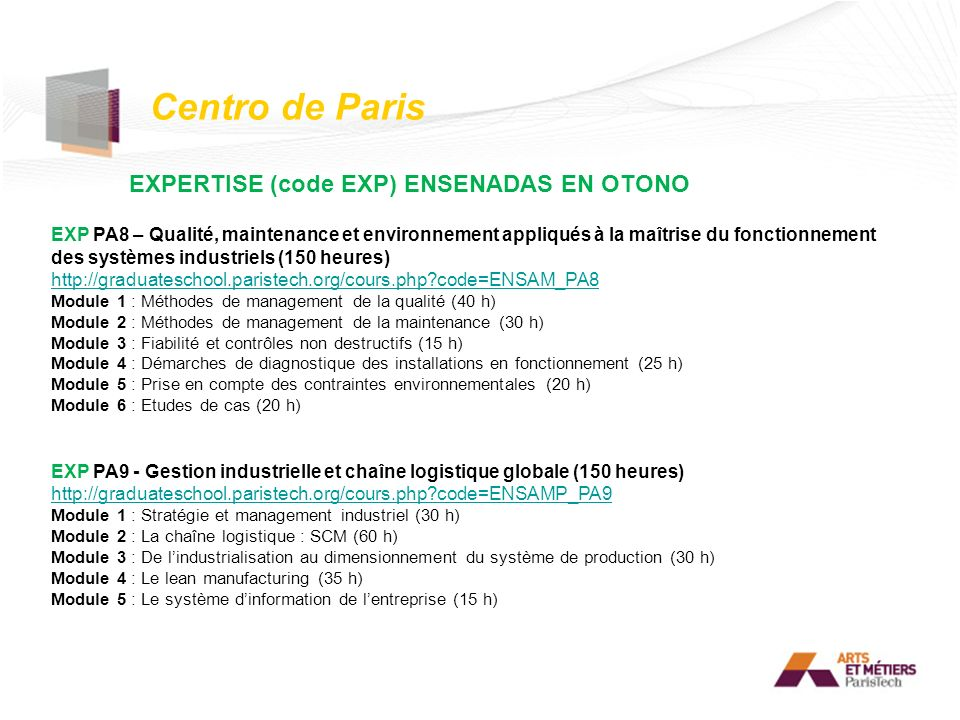 EXPERTISE (code EXP) ENSENADAS EN OTONO