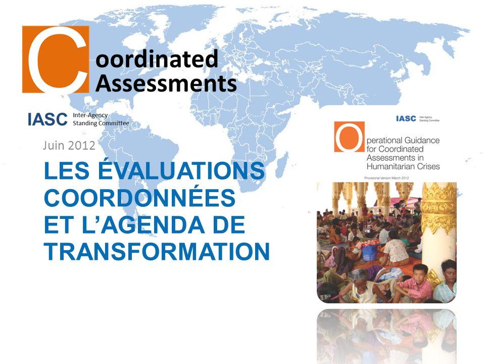 Les évaluations coordonnées et l'agenda de transformation