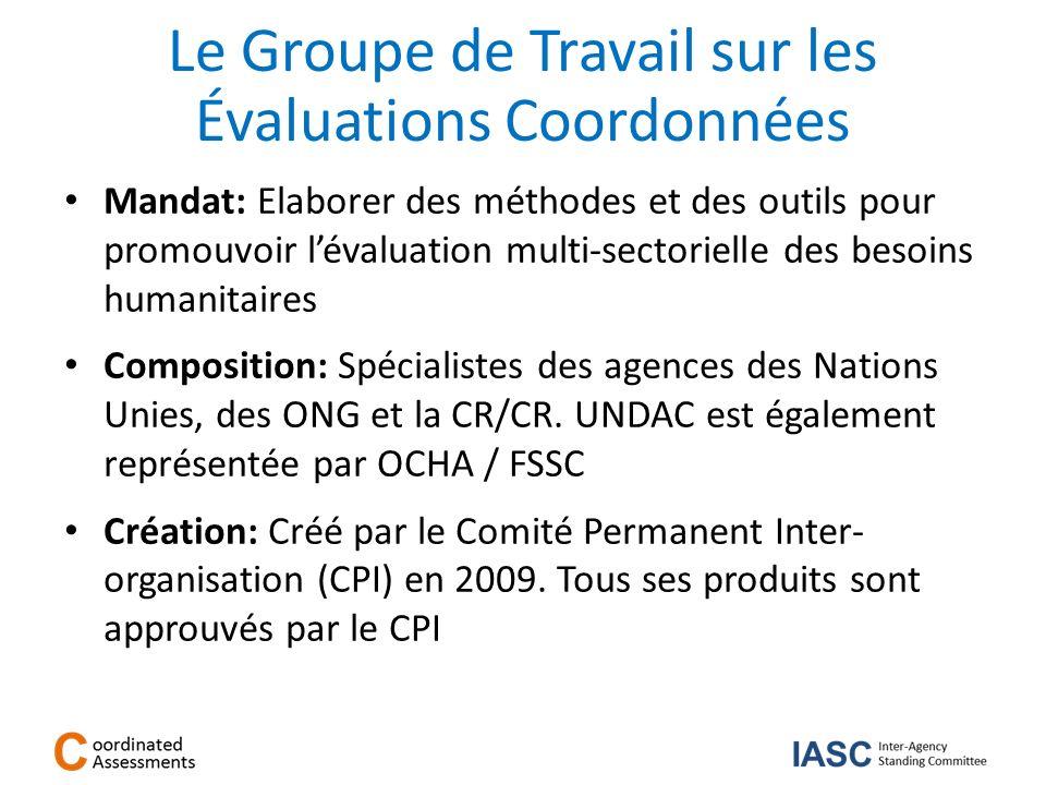 Le Groupe de Travail sur les Évaluations Coordonnées