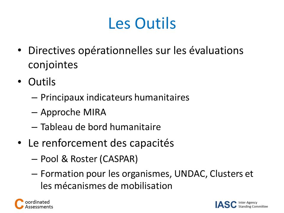 Les Outils Directives opérationnelles sur les évaluations conjointes