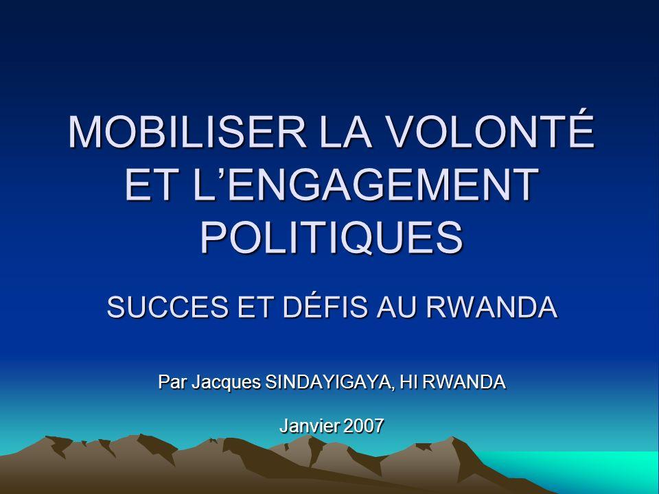 Par Jacques SINDAYIGAYA, HI RWANDA Janvier 2007