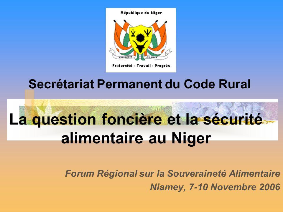 La question foncière et la sécurité alimentaire au Niger