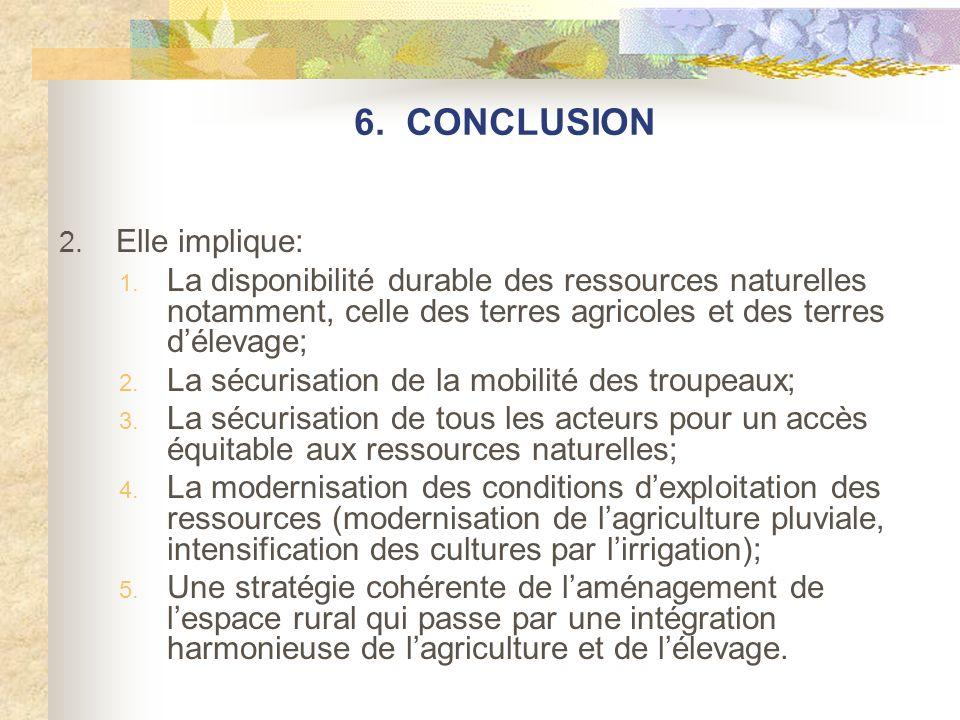 6. CONCLUSION 2. Elle implique: