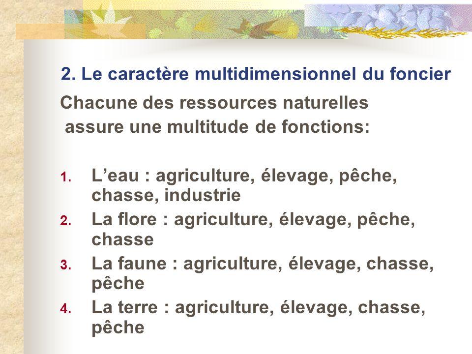 2. Le caractère multidimensionnel du foncier