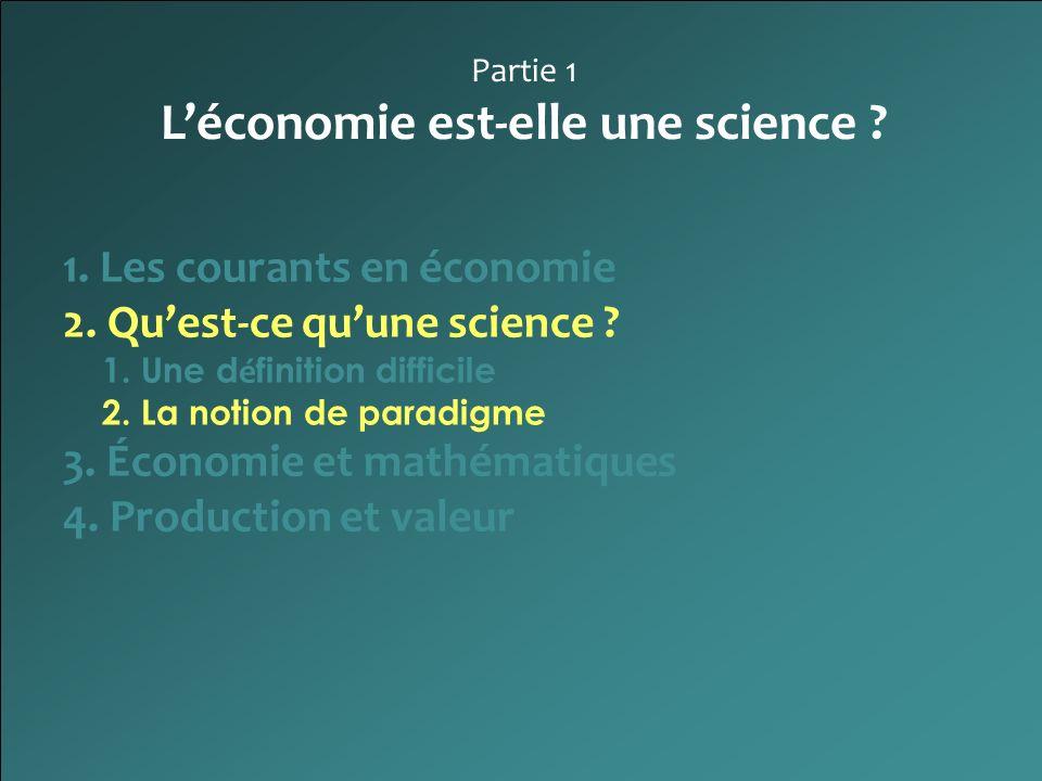L'économie est-elle une science