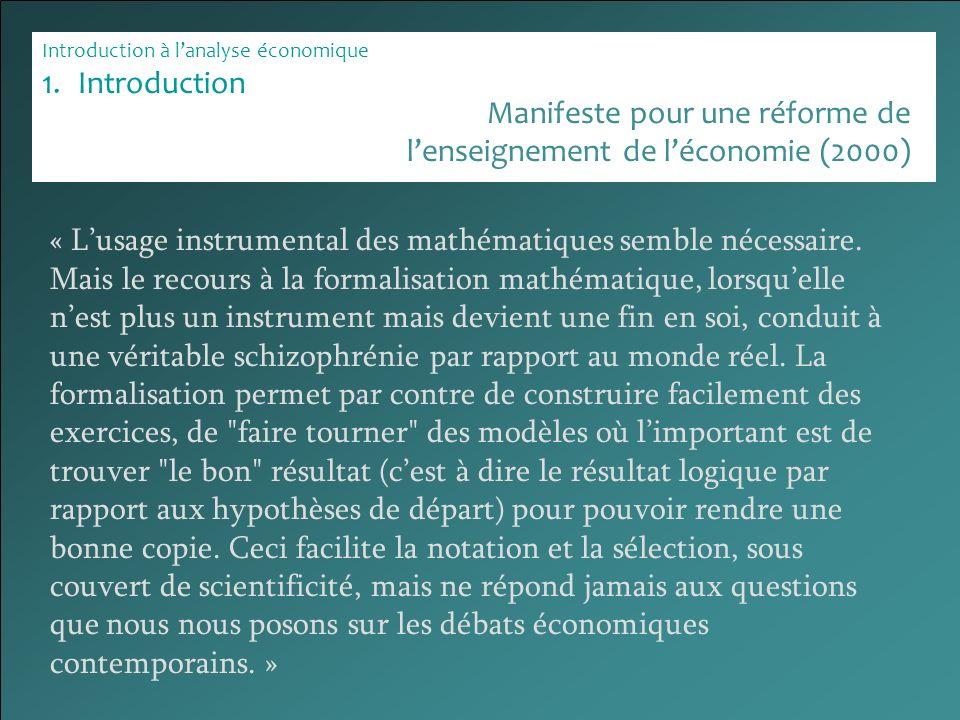 Manifeste pour une réforme de l'enseignement de l'économie (2000)