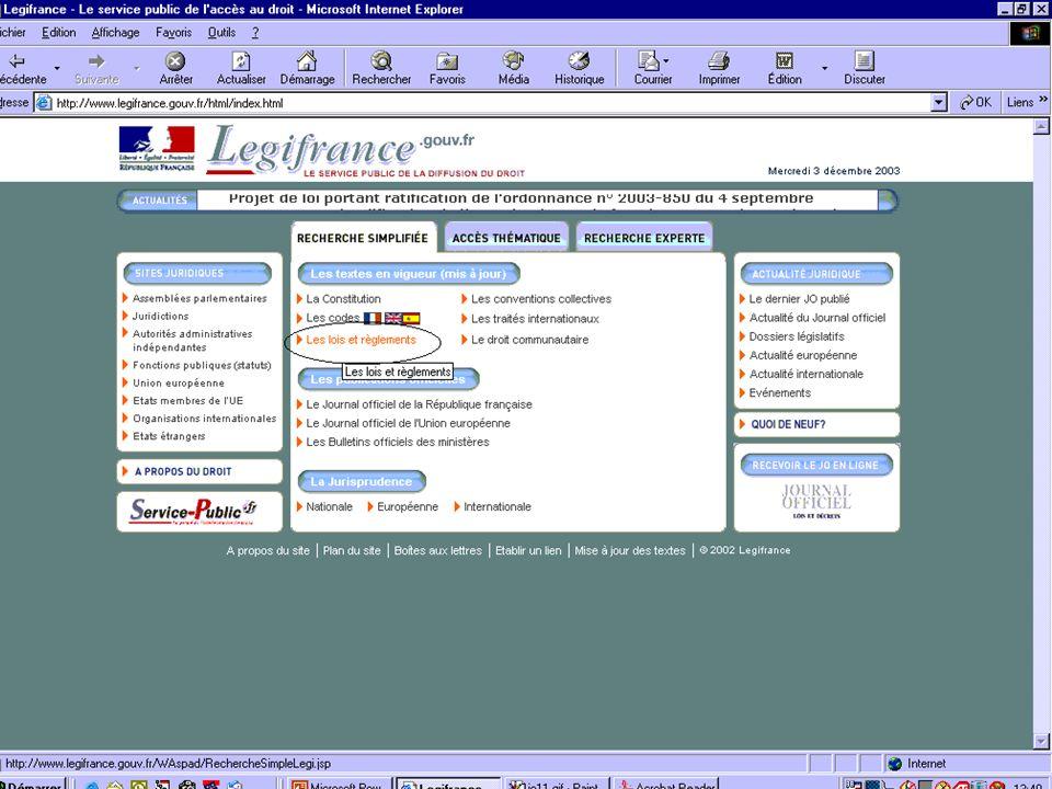 Salon de l internet Juridique 3 décembre 2003