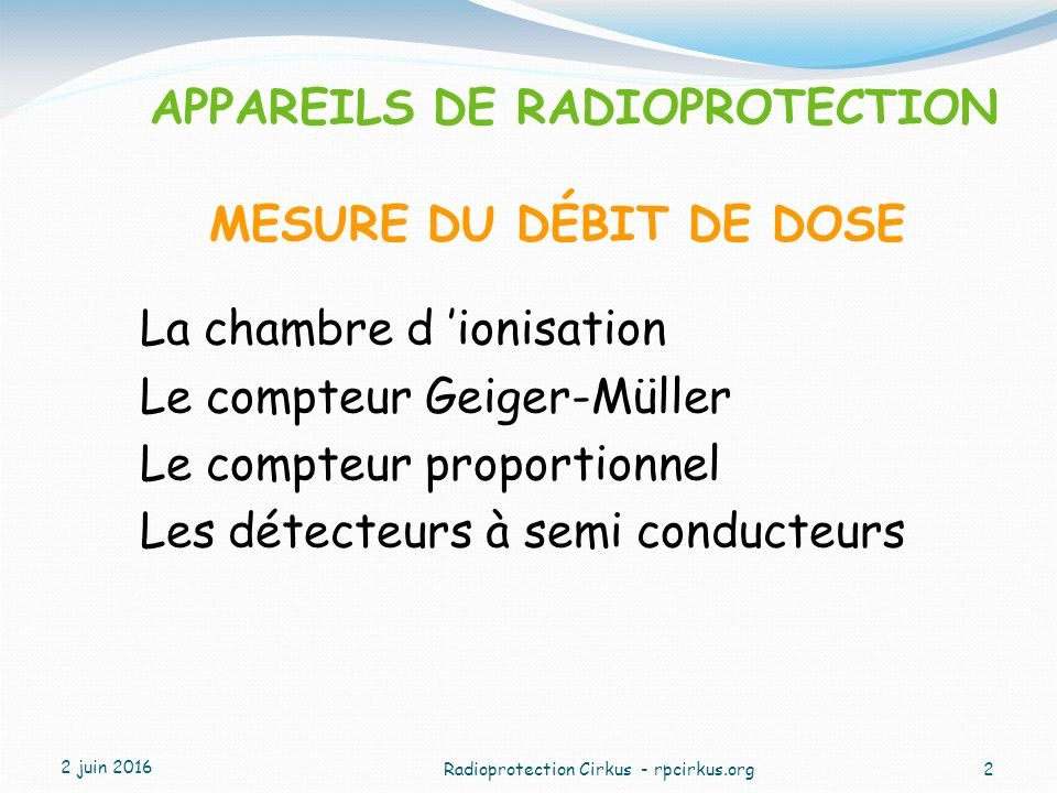 Radioprotection cirkus ppt video online t l charger for Chambre d ionisation