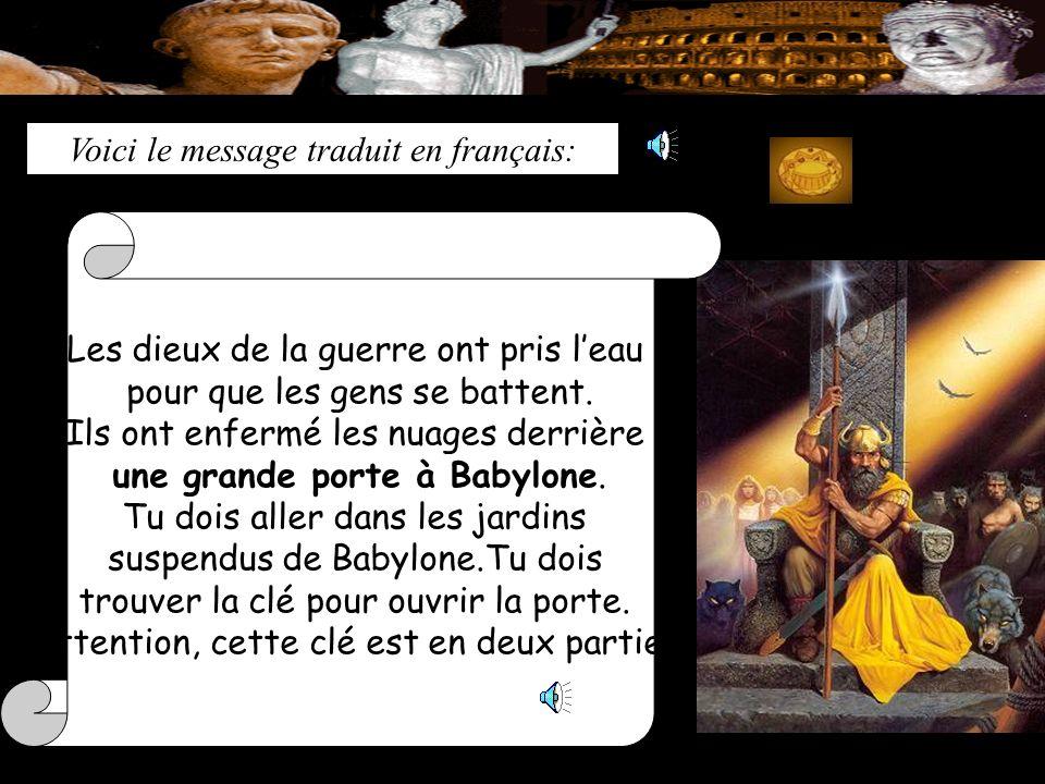 Voici le message traduit en français:
