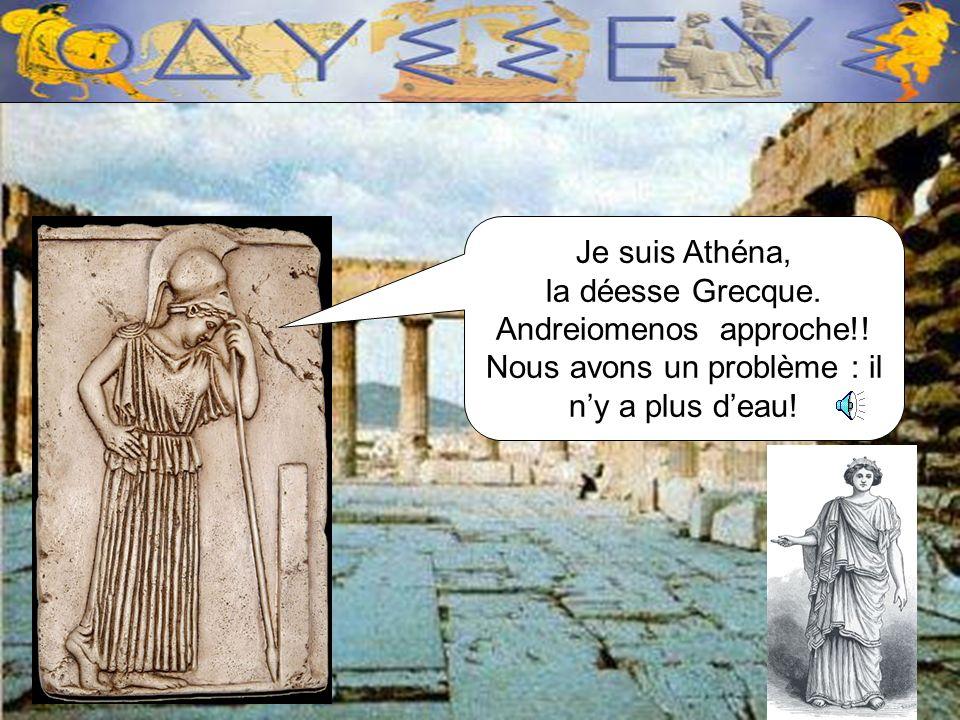 Je suis Athéna, la déesse Grecque.