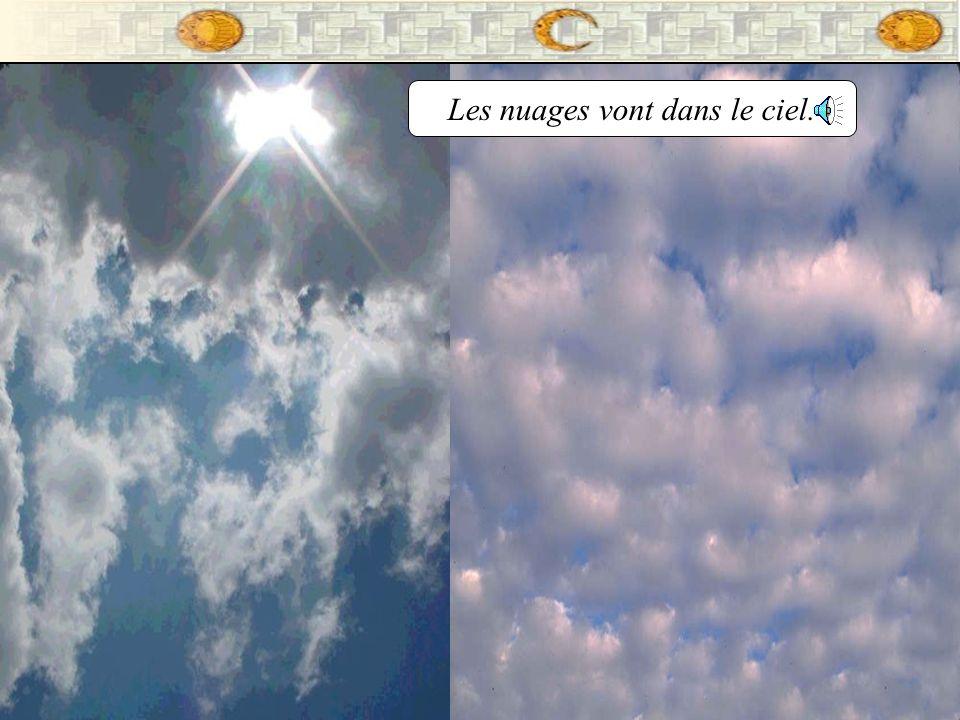 Les nuages vont dans le ciel.