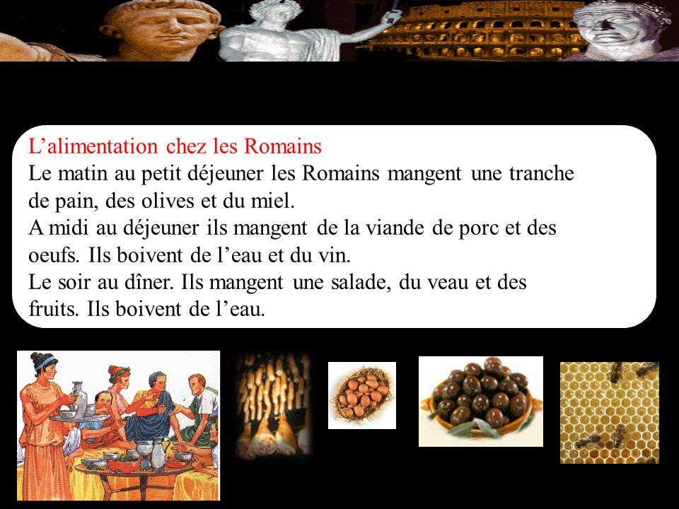L'alimentation chez les Romains