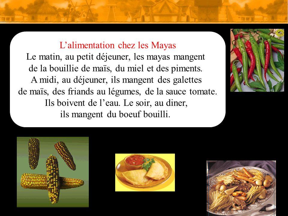 L'alimentation chez les Mayas