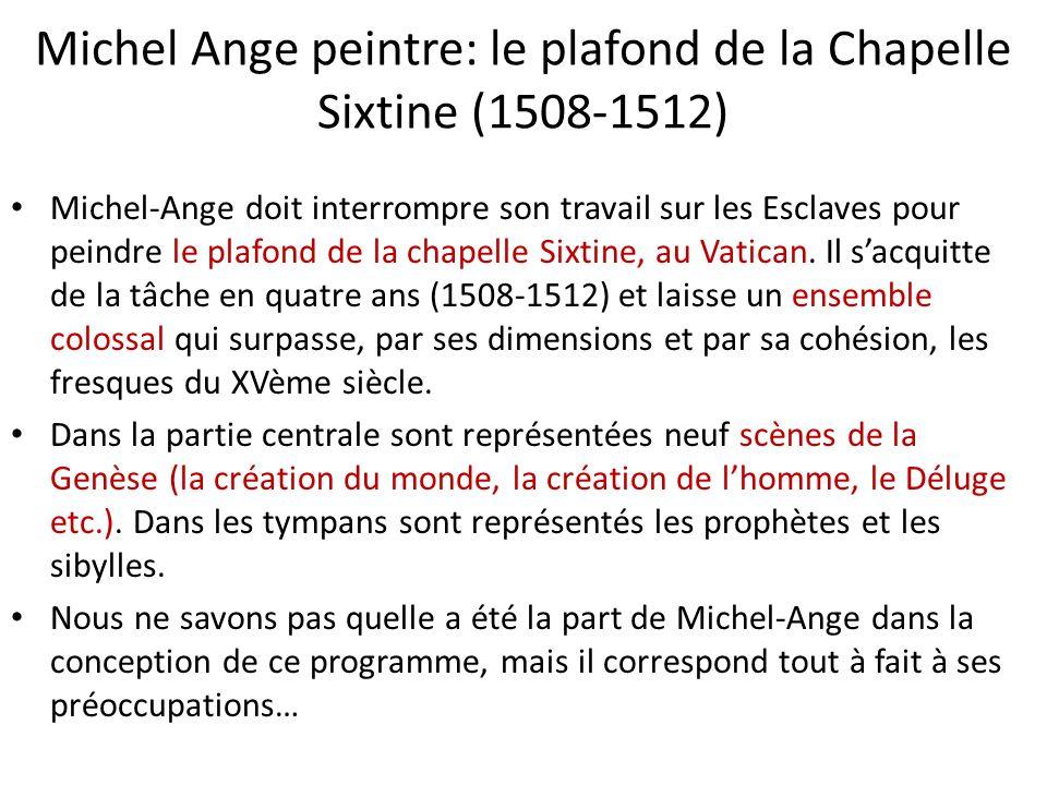 Souvenez vous la haute renaissance ppt video online - Fresque du plafond de la chapelle sixtine ...