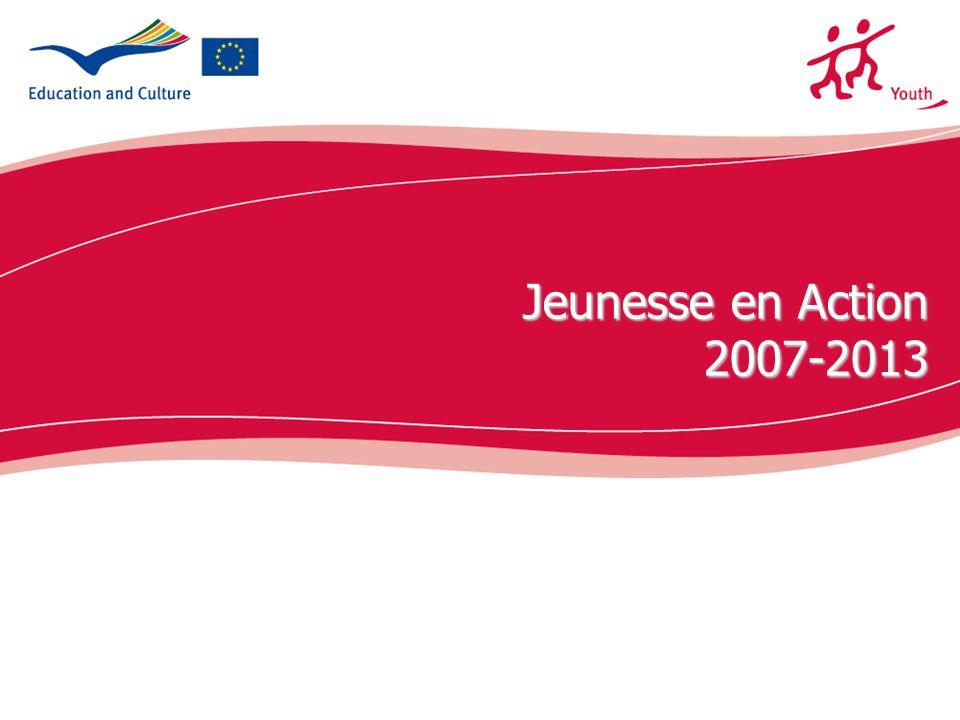 Jeunesse en Action 2007-2013 Présentation du nouveau programme Jeunesse en Action