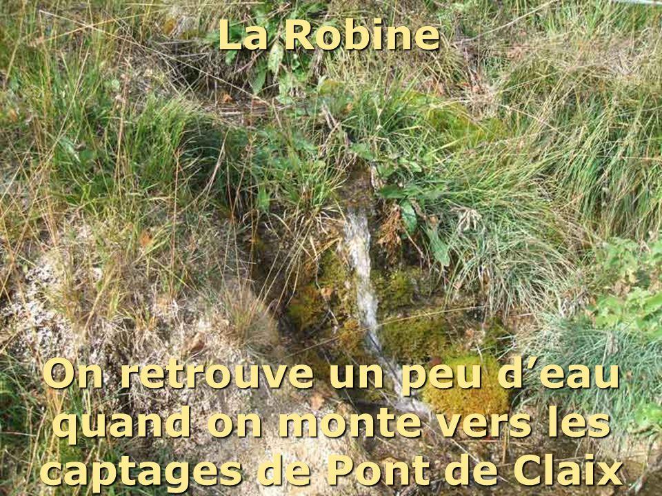 La Robine Mais cette eau à tendance à partir à travers champ… On retrouve un peu d'eau quand on monte vers les captages de Pont de Claix.