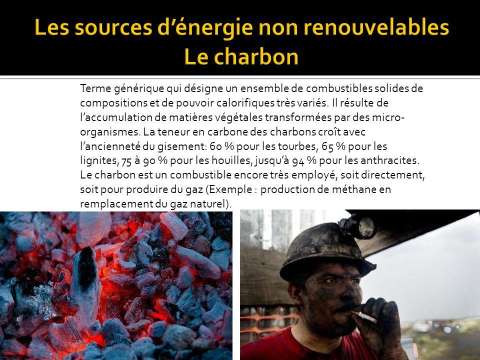 Les sources d'énergie non renouvelables Le charbon