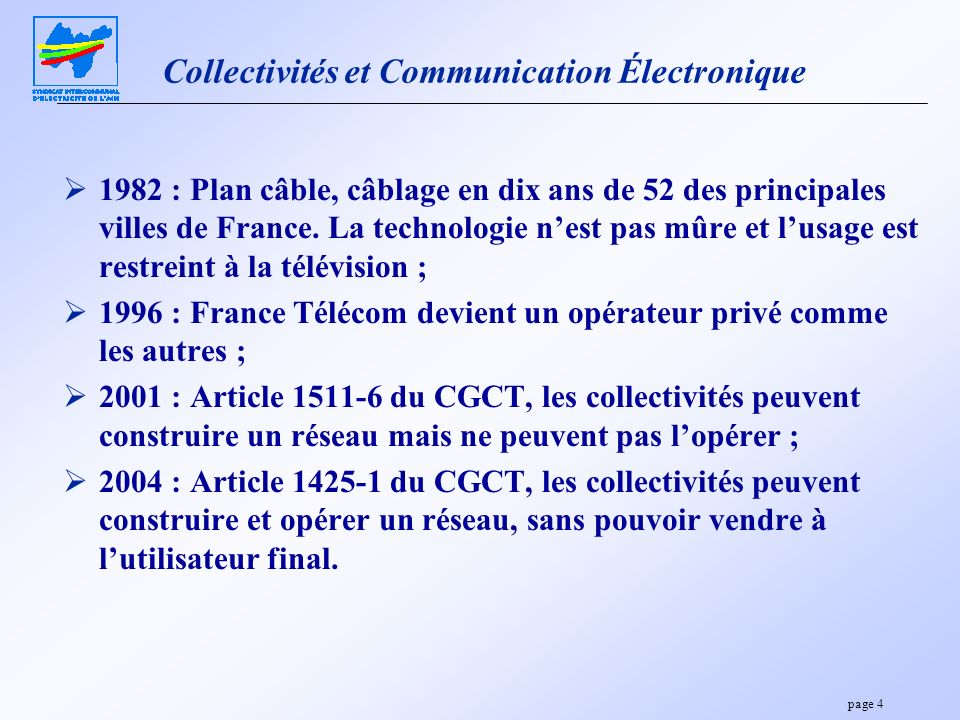 Collectivités et Communication Électronique