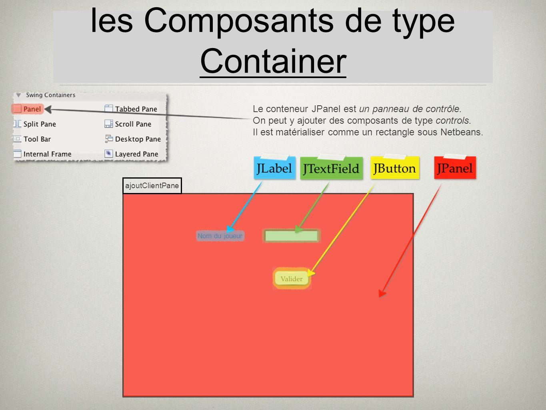 les Composants de type Container