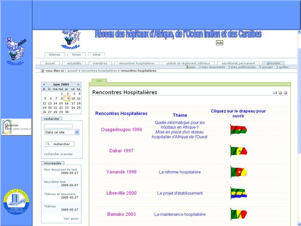 J. Testa – P Staccini Université Nice-Sophia Antipolis – AG du RESHAOC 10 juin 2005