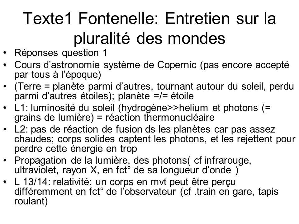 Texte1 Fontenelle: Entretien sur la pluralité des mondes