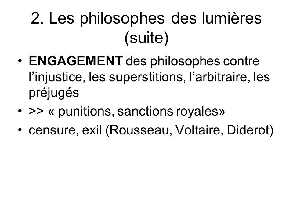 2. Les philosophes des lumières (suite)