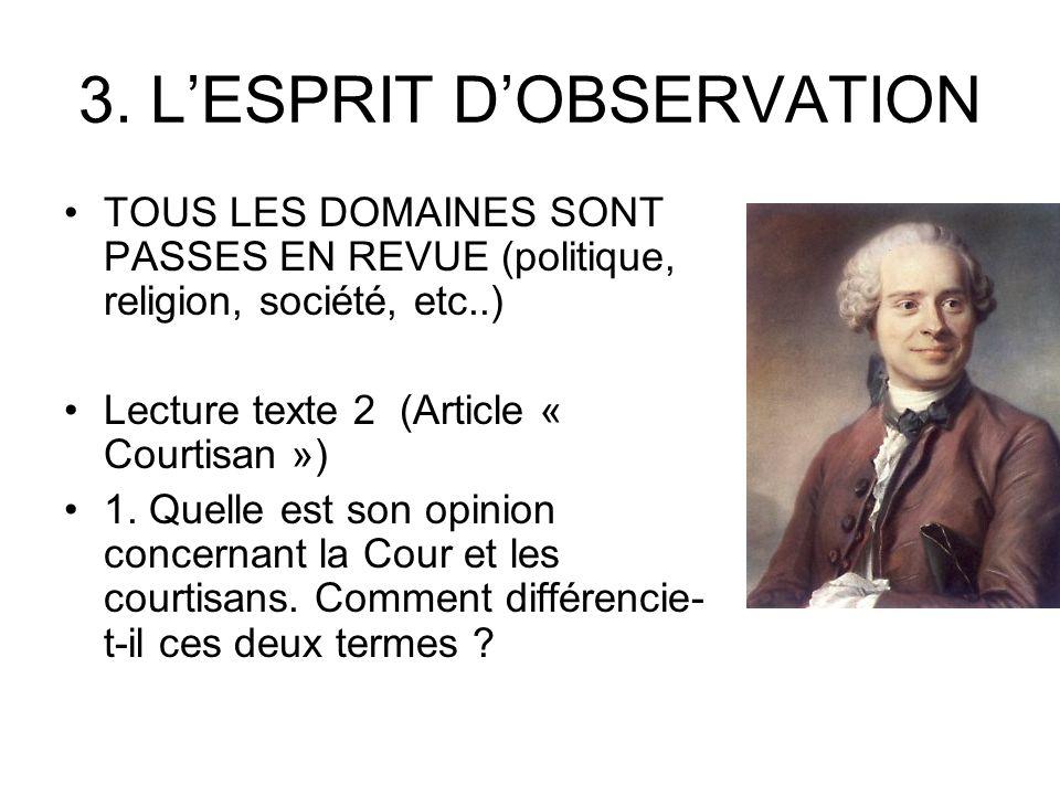 3. L'ESPRIT D'OBSERVATION