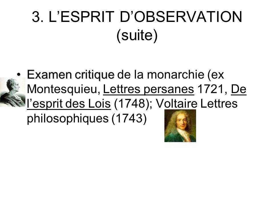 3. L'ESPRIT D'OBSERVATION (suite)
