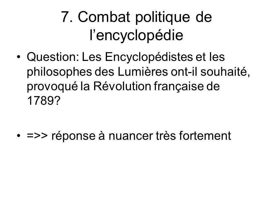 7. Combat politique de l'encyclopédie
