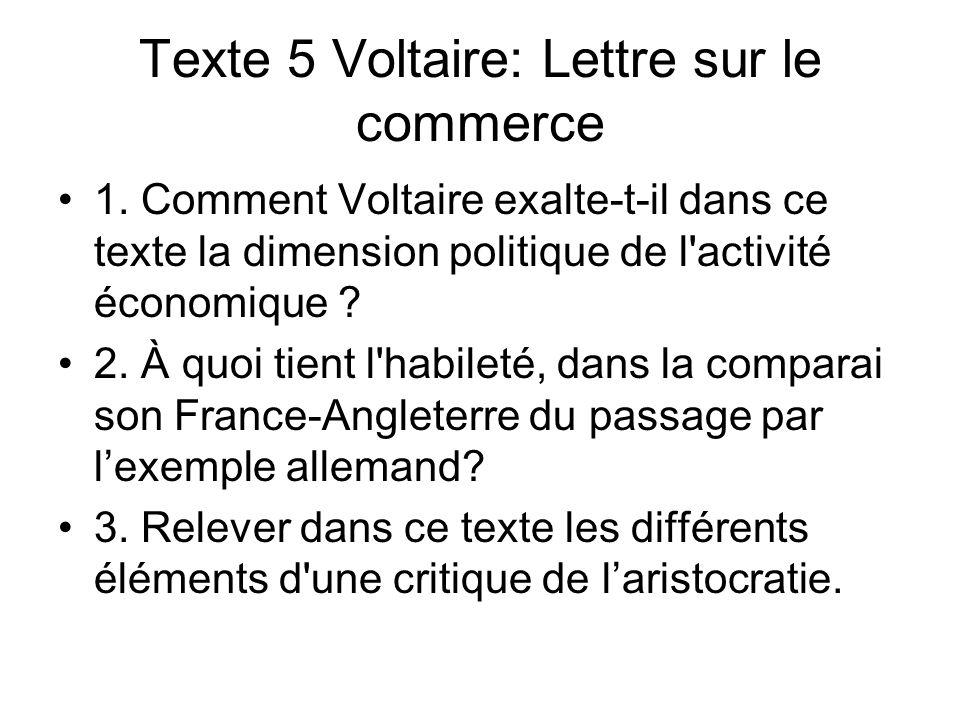 Texte 5 Voltaire: Lettre sur le commerce