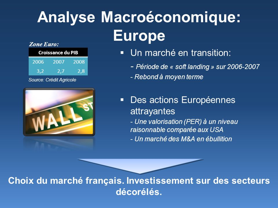 Analyse Macroéconomique: Europe