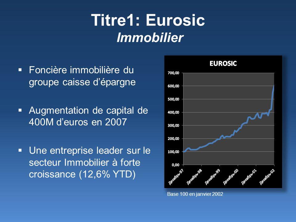 Titre1: Eurosic Immobilier