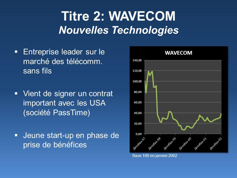 Titre 2: WAVECOM Nouvelles Technologies