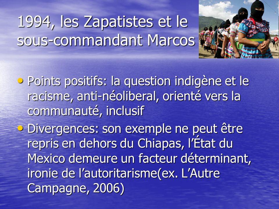 1994, les Zapatistes et le sous-commandant Marcos
