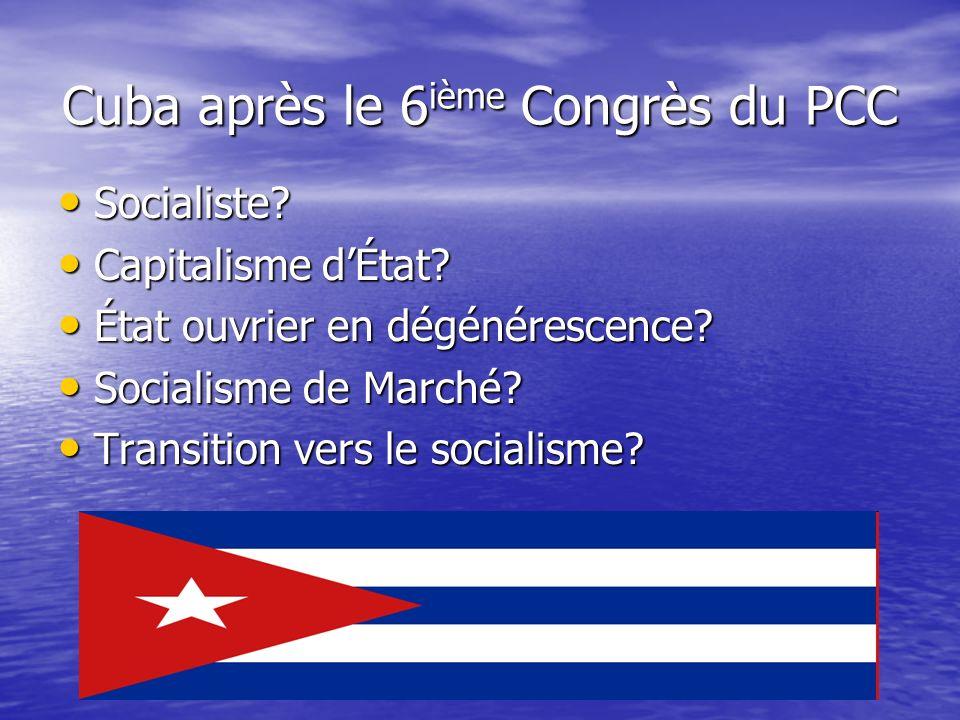 Cuba après le 6ième Congrès du PCC