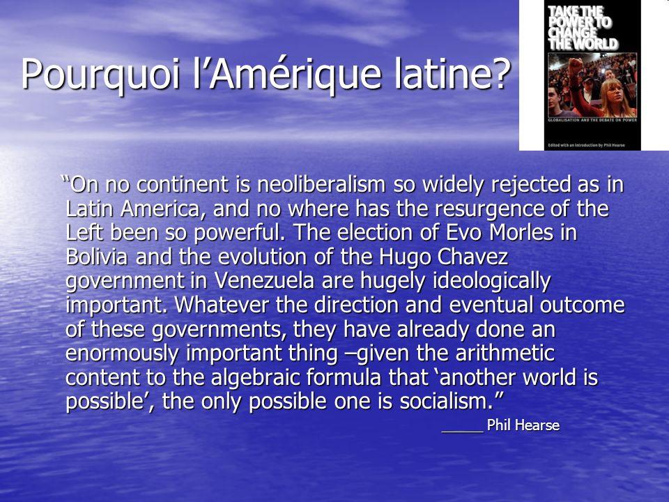 Pourquoi l'Amérique latine