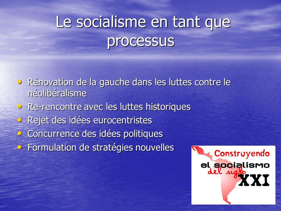 Le socialisme en tant que processus