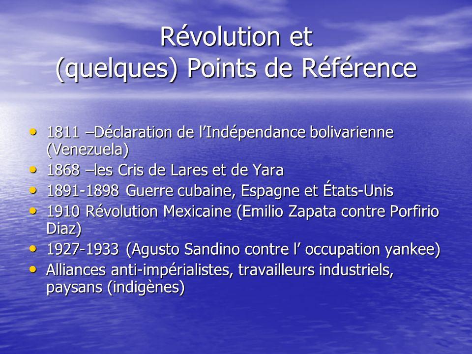 Révolution et (quelques) Points de Référence