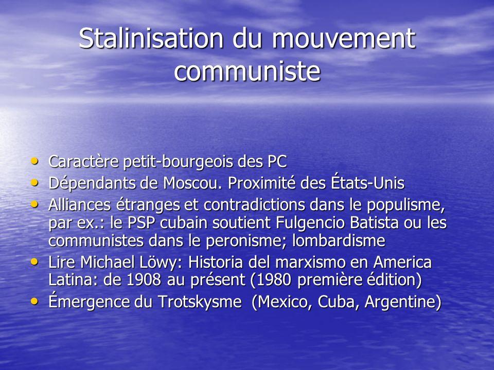 Stalinisation du mouvement communiste