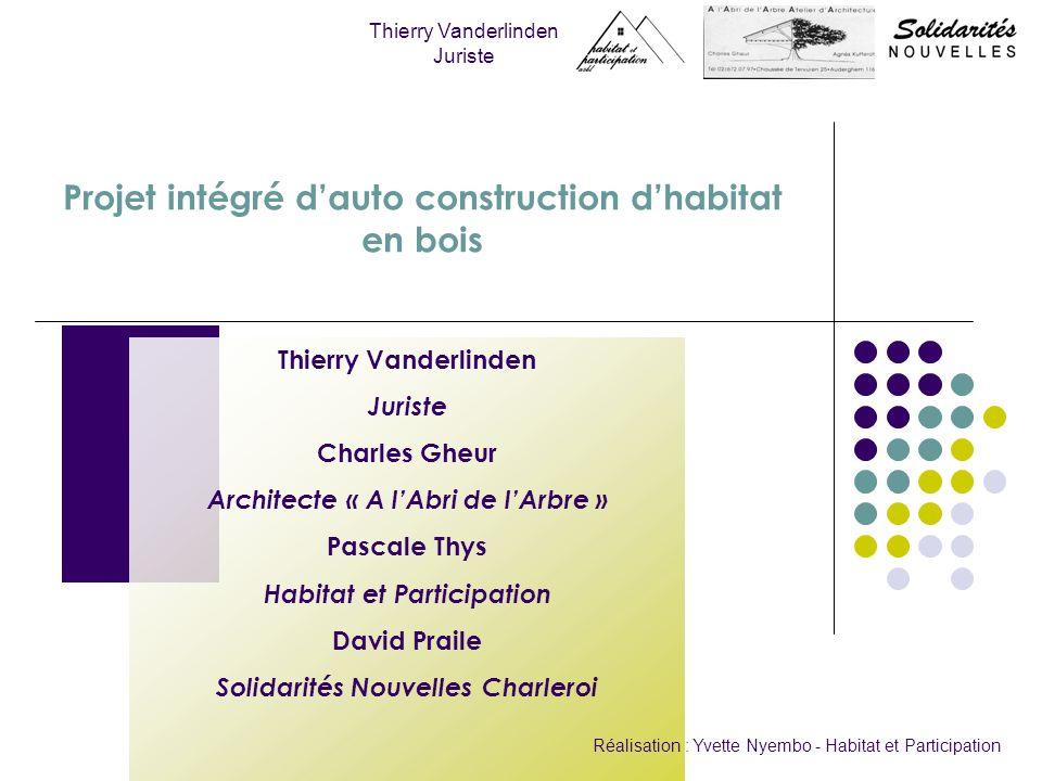Projet intégré d'auto construction d'habitat en bois