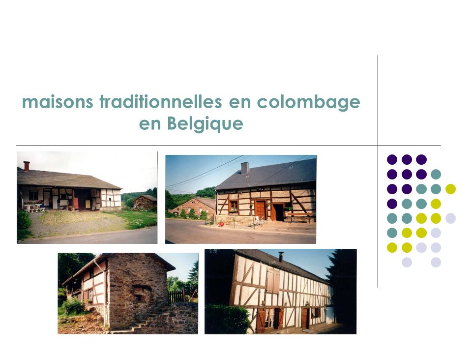 maisons traditionnelles en colombage en Belgique