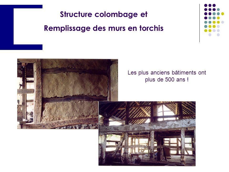 Structure colombage et Remplissage des murs en torchis