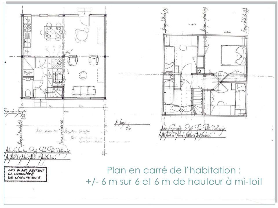 Plan en carré de l'habitation :