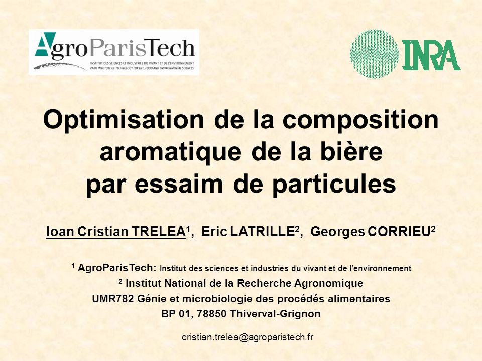 Optimisation de la composition aromatique de la bière par essaim de particules