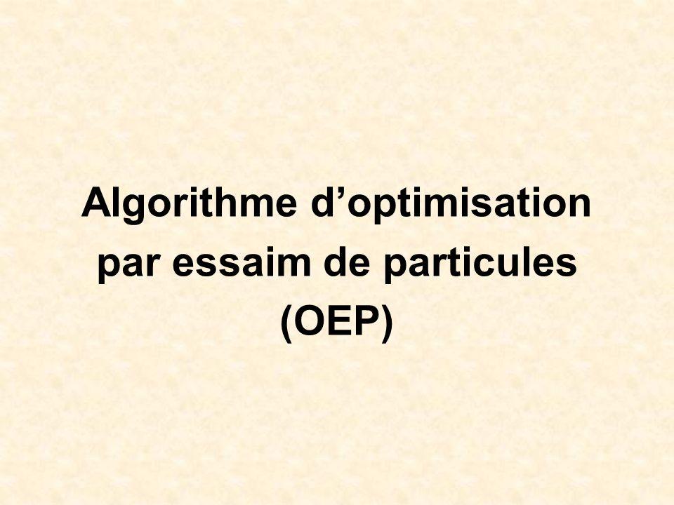 Algorithme d'optimisation par essaim de particules (OEP)
