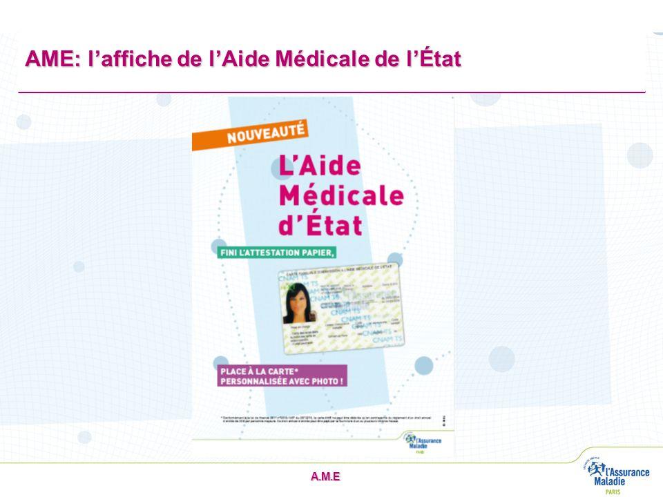 AME: l'affiche de l'Aide Médicale de l'État