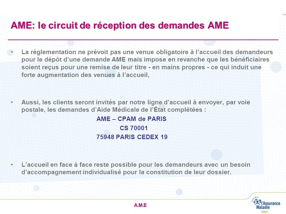 AME: le circuit de réception des demandes AME