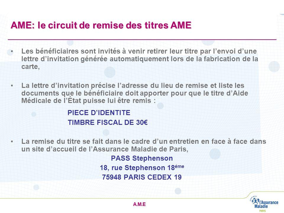 AME: le circuit de remise des titres AME